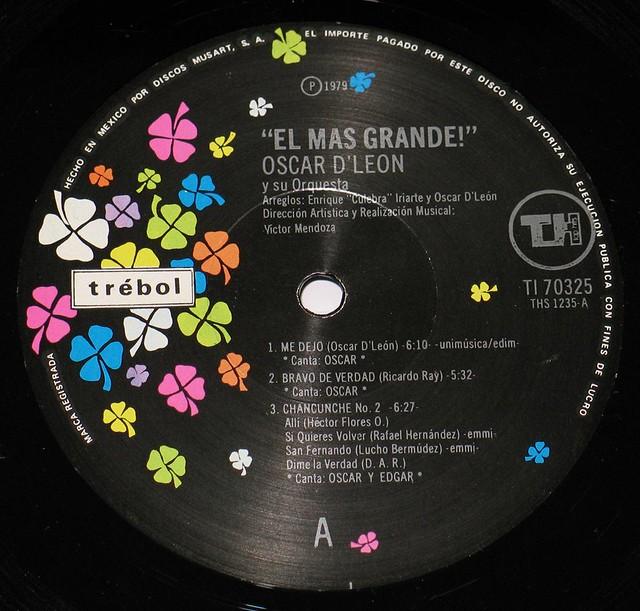 """OSCAR D'LEON EL MAS GRANDE 12"""" vinyl LP"""