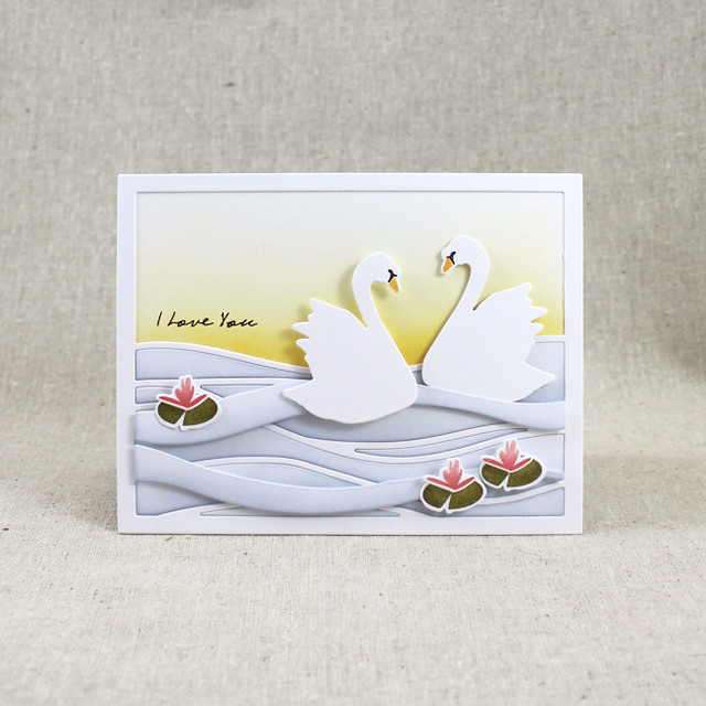 I Love You Swans Card