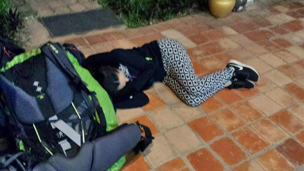 Quand elle dort par terre