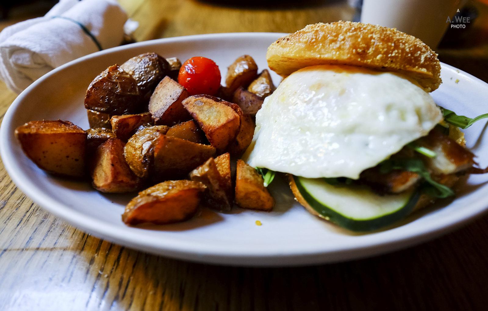 Wine country breakfast sandwich