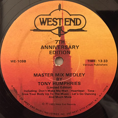 TONY HUMPHRIES:MASTER MIX MEDLEY(LABEL SIDE-B)