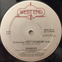 BOMBERS:(EVERYBODY)GET DANCIN'(LABEL SIDE-A)