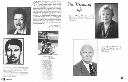 Doris Pike in 1996 Yearbook