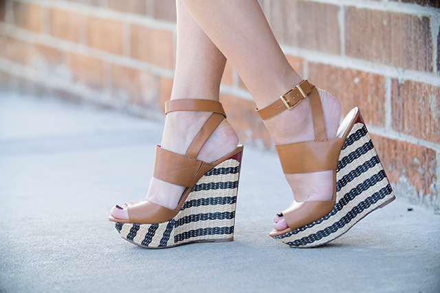 striped heels, affordable striped heels, jessica simpson, jessica simpson wedges, wedges