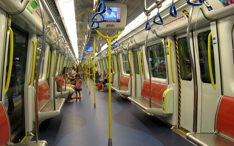 Interior of Hong Kong MTR SP1900 train