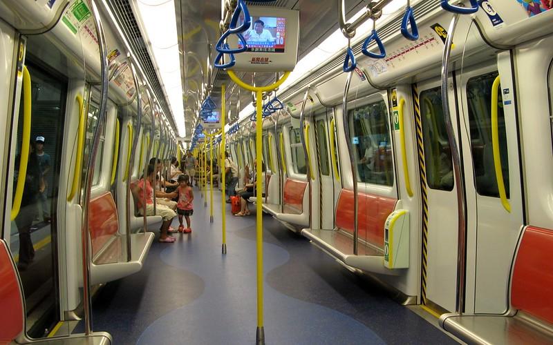Interior of Hong Kong MTR SP1900 train