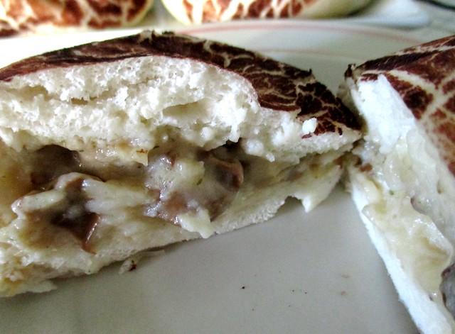 Steamed mushroom bun, inside