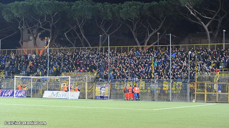 Un'immagine dello stadio Romeo Menti di Castellammare di Stabia