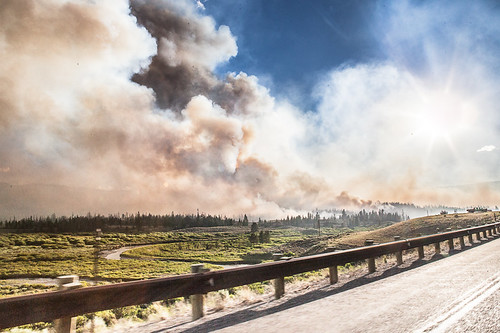 Wildfire from the road WY, 2016 | by Nick Irving