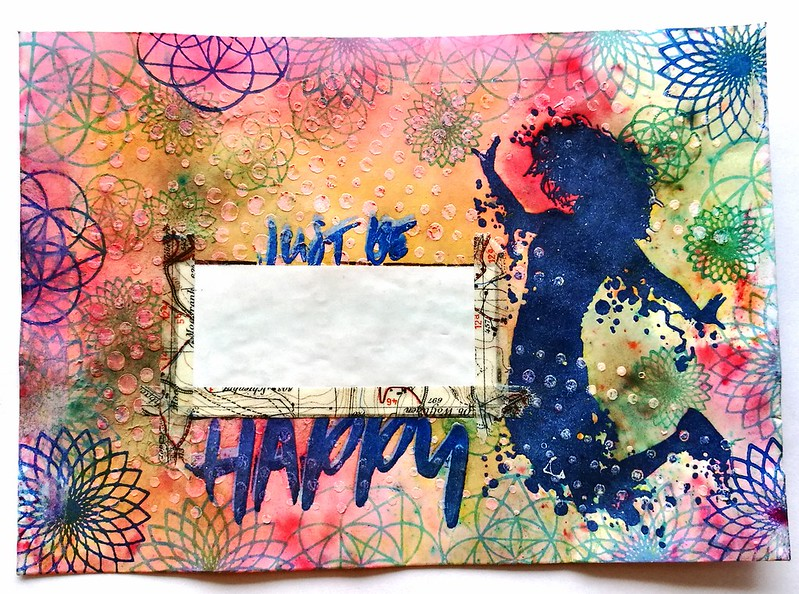 just be happy mail art