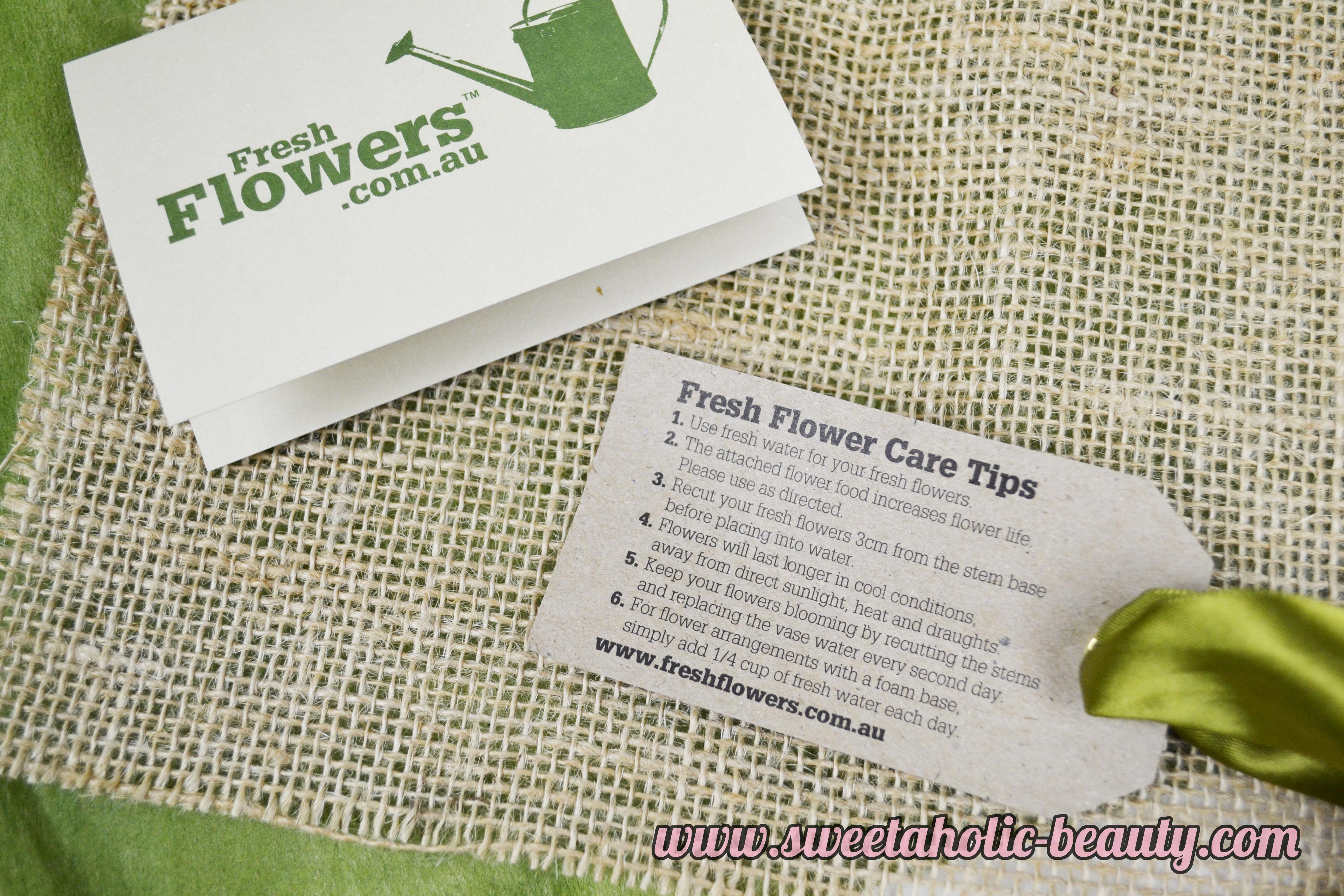 FreshFlowers.com.au Review - Sweetaholic Beauty