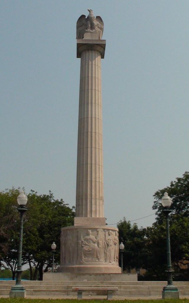 Illinois Centennial Monument Logan Square Chicago Landmar