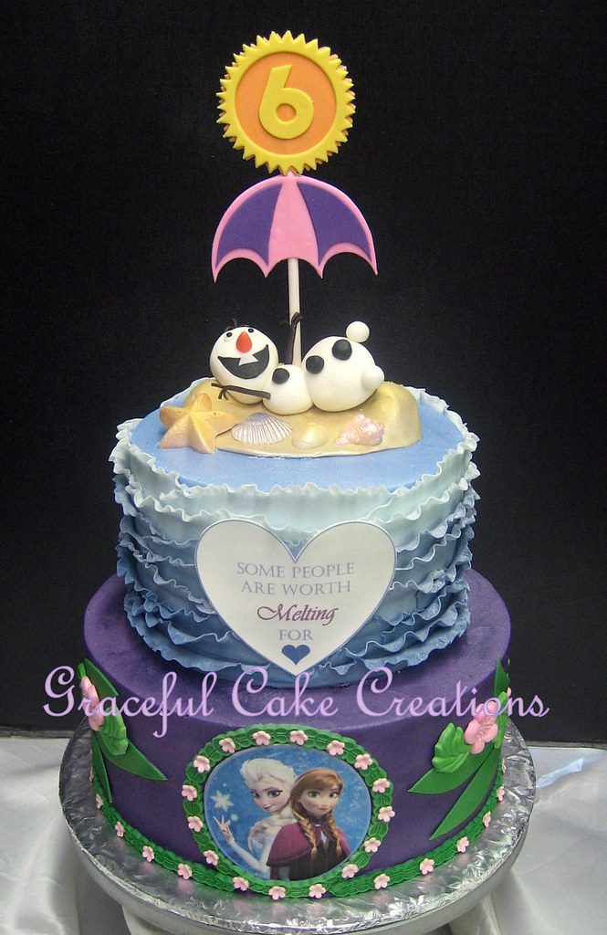 Frozen Themed Birthday Cake Grace Tari Flickr