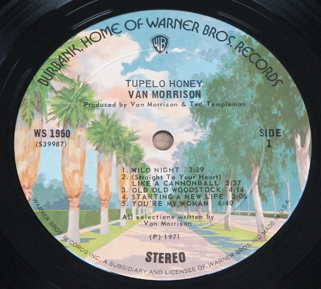 "VAN MORRISON TUPELO HONEY GATEFOLD 12"" LP VINYL"