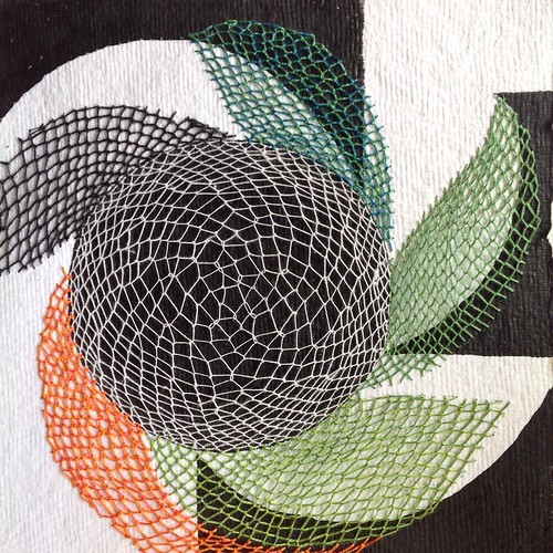 Stitching on Paper by Karin Lundström