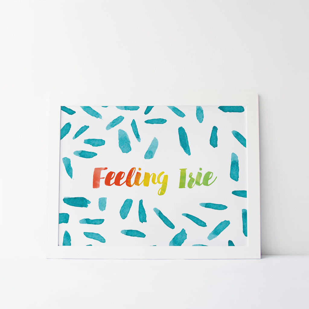 Irie Print by Mango and Design on Etsy