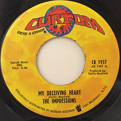 THE IMPRESSIONS:MY DECEIVING HEART(LABEL SIDE-A)