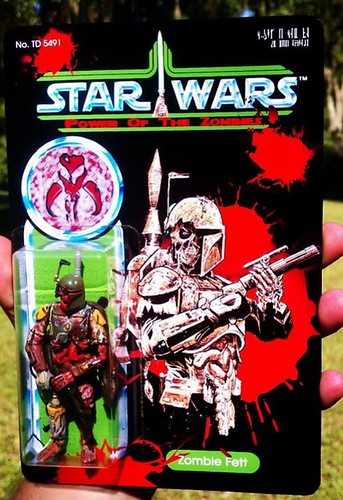 Custom Star Wars action figures by TD 5491 Phenix Customs - Zombie Boba Fett