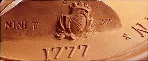 Benjamin Franklin terra cotta medal base
