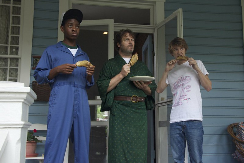 RJ Cyler, Nick Offerman and Thomas Mann chew the scenery in ME AND EARL AND THE DYING GIRL.