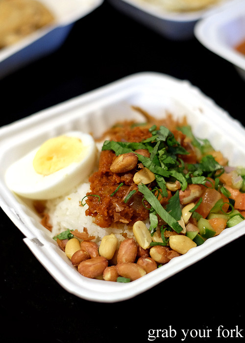 Nasi lemak from Yang's Malaysian Food Truck in Sydney