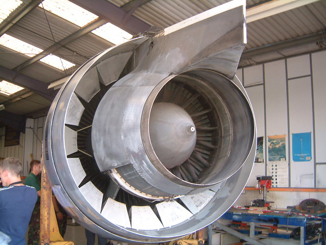 Jet pipe | Huge Fan-jet engine from a airliner stored at Sho… | Flickr