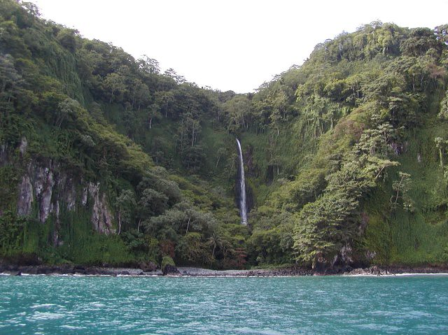 a gorgeous waterfall on isla del coco