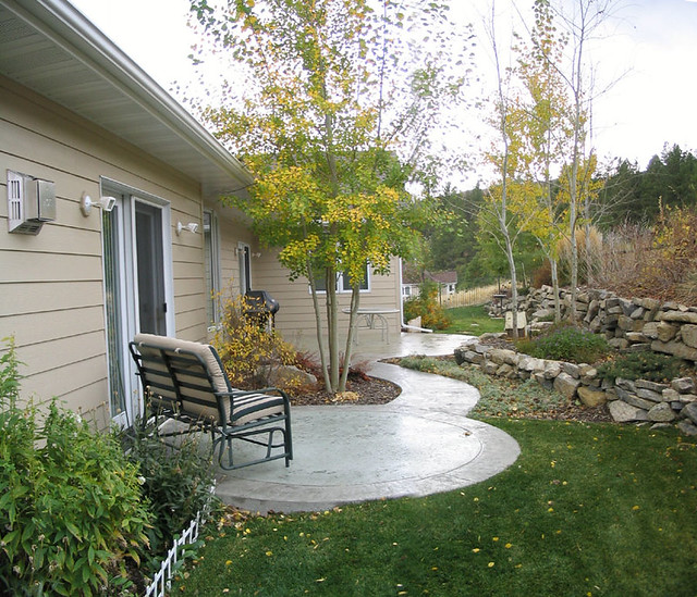 Ideas For Old Cement Patio: Patio Is Two Separate Circles