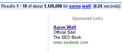 Aaron Wall Adword | by Telendro