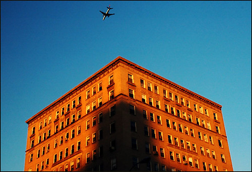 Plane over Eastern Parkway | by colorstalker