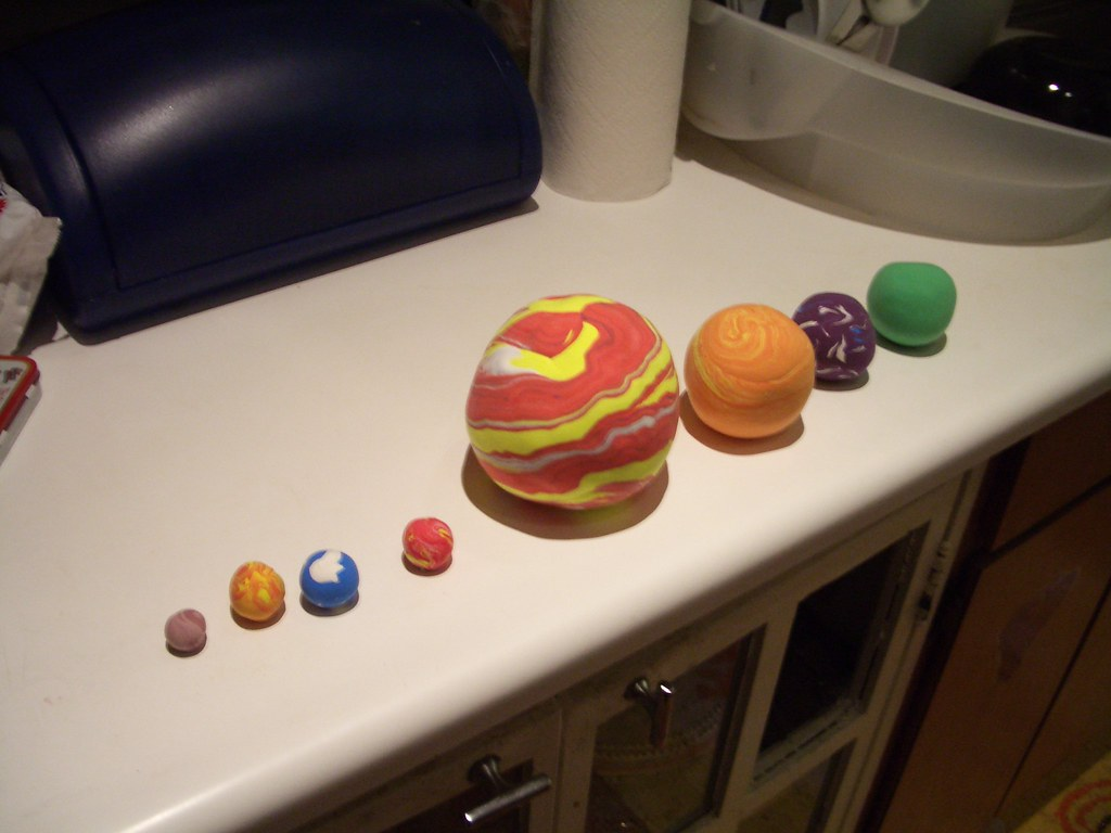 a solar system made of clay - photo #11