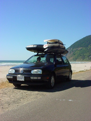 windsurfing vw golf at manzanita on the oregon coast | by thekreative