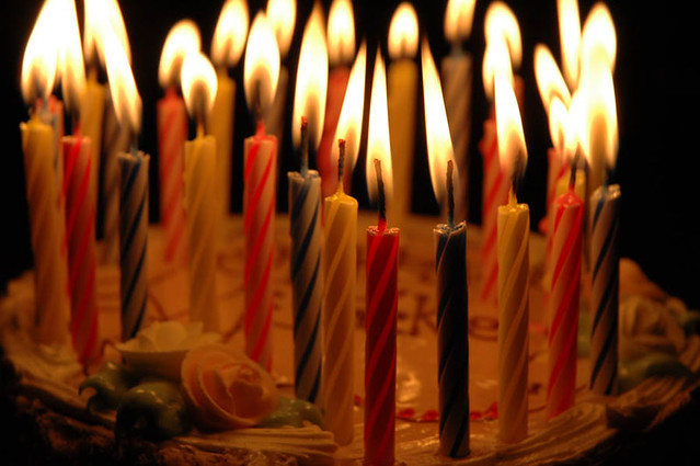 Picture Of  Candles Birthday Cake