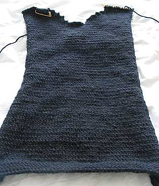 The front of my first sweater, completed. | by panopticon
