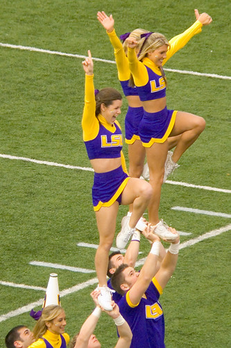 LSU Cheerleaders At The LSU Versus Arkansas Game In