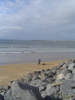 Man walking dog, Lahinch, Clare, Ireland | by Mark Waters