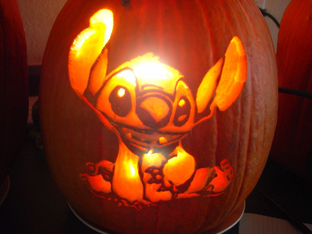 Disney pumpkin templates stitch imgkid the