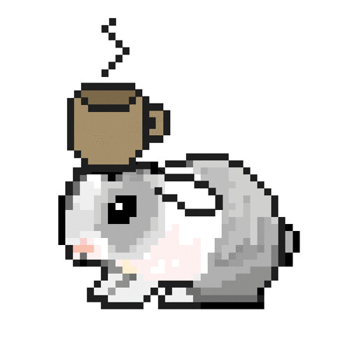 "by request: bunny with coffee | ""I need you to play up the b ..."