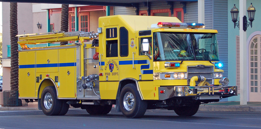 Clark County Fire Truck A Pierce Fire Engine From The