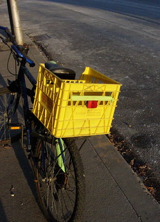 Yellow Bike Basket | by wmacphail