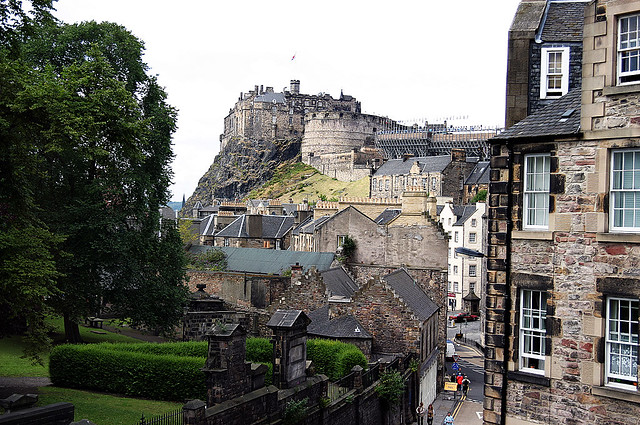 Edinburgh Castle From The Elephant House This Is One Of