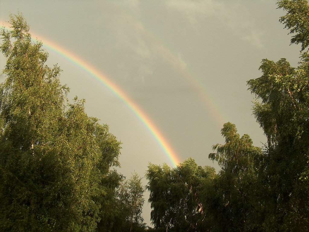 Double rainbow | Shot during a thunderstorm in Zemst ...