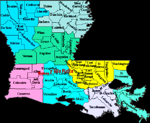 parish map of louisiana found via echidne and ripped off o Flickr