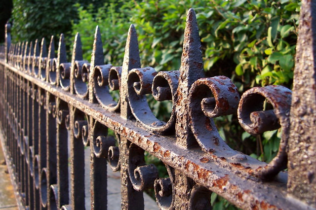 9.13.05 Iron Fence | This is a fabulous old iron fence on ...