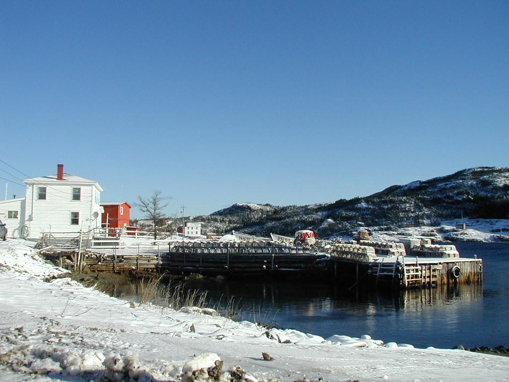 Snowy Salvage Wharf, Newfoundland | Snow on fishing gear in … | Flickr