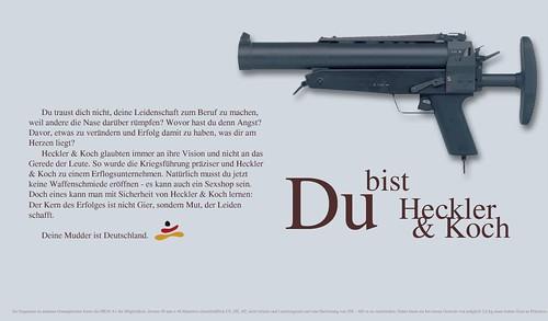 Du bist heckler koch frei nach dem beate uhse motiv for Koch deutschland