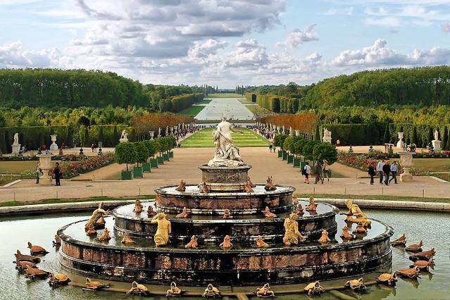 Perspective jardins du ch teau de versailles for Jardin chateau de versailles