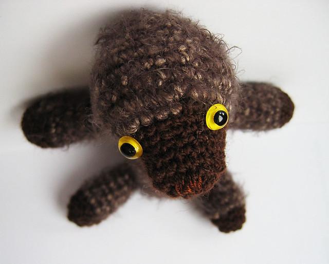 My mole Molly, free hand amigurumi softies by iHanna