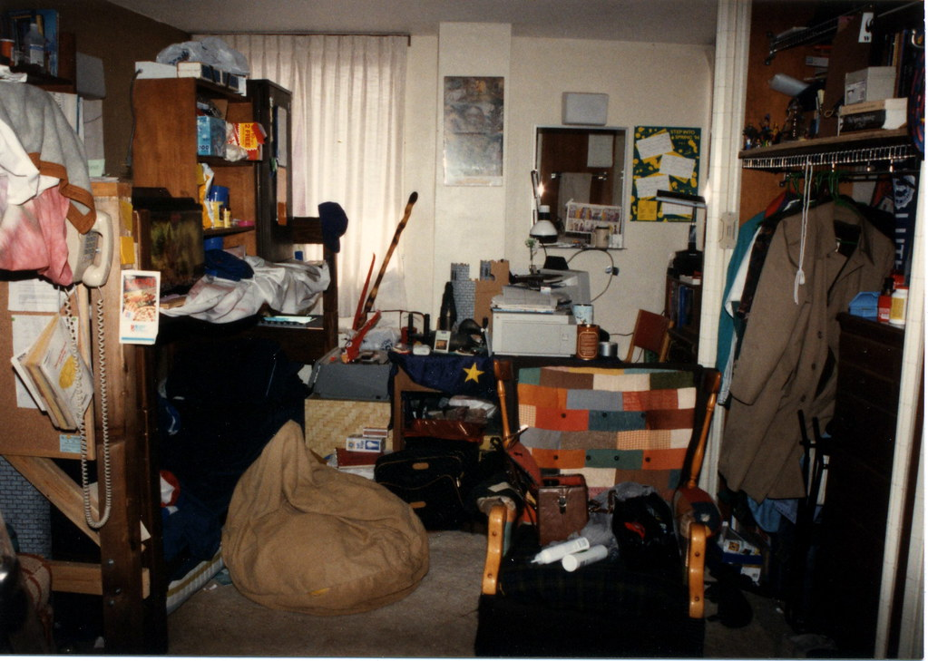 Cramped Dorm Room