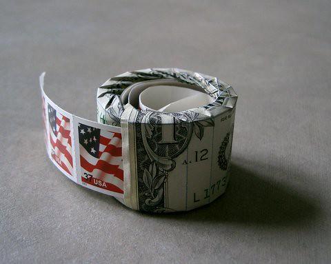 Dollar Bill Stamp Dispenser